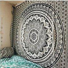 Indische Mandala Hippie Tapisserie Böhmische Wand Hanging Artwork Strand BedSpread , 005 , 150x150cm