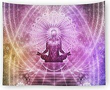 Indische Meditation Buddha Wandbehang Tapisserie
