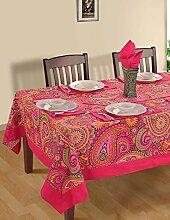 Indische Multicolor Baumwolle Frühling Blumen Tischdecken 152 X 228 CM, einschließlich Läufer & Servietten
