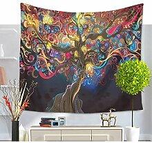 Indische Trees of Life Mandala Wandteppich