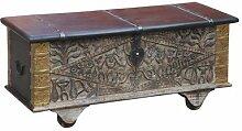 Indische Truhe antik Indien Ececan - 115cm