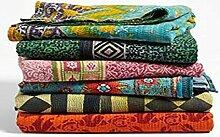 Indische Vintage Bengali Kantha Quilts Großhandel Menge von 500 Twin Size Tribal Kantha Quilts Vintage Baumwolle Bettdecke werfen Old Sari gemacht Assorted Patches gemacht Rally Whole Sale Blanke