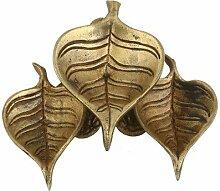 Indische Wick Lampe Messing Drei Blätter-Dekor-Startseite
