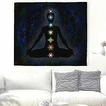 Indische Yoga Chakren Wandteppich Mandala