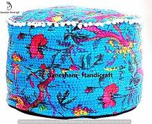 indischen Hippie Gypsy Boho Decor Wohnzimmer Baumwolle Handgemachter Designer Sitzsäcke Ethnic Platz Pouf Bohemian Dekorative Kantha Boden Kissen & Kissen Vintage Fußhocker & Pouf otoomans