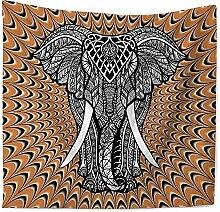 indischen Mandala Elefanten bedruckte Wandteppich für Beach Werfen, E, 200150cm, D, 150*130cm