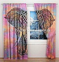 indischen Mandala Vorhänge, dekorative Fenster