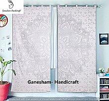 indischen Mandala Wandbehang, gold oder silber