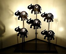 indischen Wall Dekorative Elephant Art Work Design Kerzenhalter, Schmiedeeise