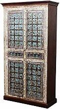 Indischer marokkanischer orientalischer Orient Landhaus Schrank Kleiderschrank Dielenschrank Billur - 1 - 185cm