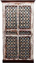 Indischer marokkanischer orientalischer Orient Landhaus Schrank Kleiderschrank Dielenschrank Billur - 2 - 185cm