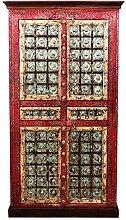 Indischer marokkanischer orientalischer Orient Landhaus Schrank Kleiderschrank Dielenschrank Billur - 3 - 185cm