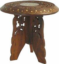 indischerbasar.de Blumentisch 22 x 23 cm Holz