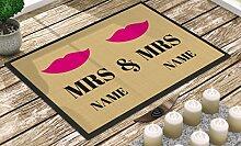 Individuell bedruckte Fußmatte - Mrs. & Mrs. -