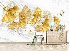 Individuell geprägte goldene Blätter Wandbild