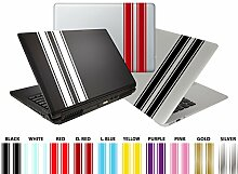 Individuell Pro Racing Streifen Aufkleber Aufkleber für Tablet, Laptop, iMac, Mac Book Pro, Tech etc.. gold