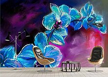 Individuelle Fototapete Handgemalte Orchidee Hd 3d