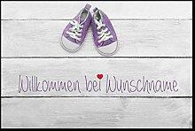 Individuelle Fußmatte Baby mit Ihrem Namen oder