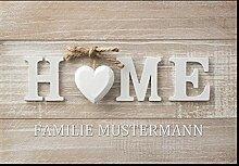 Individuelle Fußmatte Home mit Ihrem Namen oder
