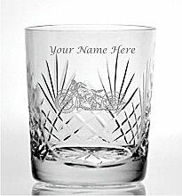 Individuelle Gravur Schnitt Kristall 313 ml Whisky
