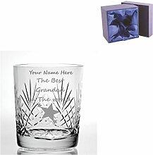 Individuelle Gravur Schnitt Kristall, Whisky Glas