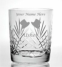 Individuelle Gravur Schnitt Kristall Whisky Glas