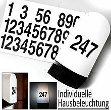 Individuelle Hausnummernbeleuchtung von Philips/ Massive. Außenbeleuchtung inkl. Hausnummern und 7 Watt LED Leuchtmittel, Ihre persönliche Wandleuchte! Außenleuchte, Hausnummer, Hausnummernleuchte