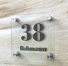 individuelles Türschild, Hausnummer,