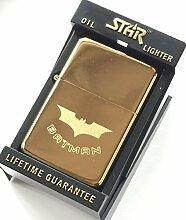 Indivuduelle Gravur Batman Star Gold Bunt Benzin