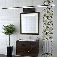 Indoor Edelstahl Bad Spiegel Schrank LED-Licht, Wohnzimmer wasserdichte Anti-Fog Wandleuchte, Bad Spiegel Lampen, weiß,82cm-schwarz-Spiegel