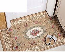 Indoor-matten/Von Mats/Saugf?higen,Anti-schleudern,Home Badematte/Küche,Europ?isch Anmutenden Fu?matten/Fu?abtreter-D 90x140cm(35x55inch)