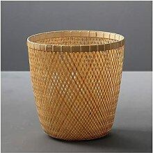 Indoor Mülleimer Bambus Mülleimer Rund
