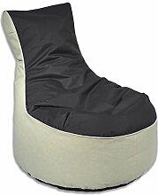Indoor / Outdoor Lounge Sessel - Sitzsack - stahlgrau | Lounge Chair, ca. Ø 80 x 90cm, 2-farbig