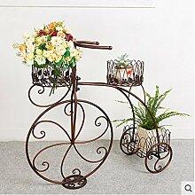Indoor / Outdoor-Regal Iron Floor Blumenständer Bike Flower Rack Indoor Balkon Blumen Regal Wohnzimmer Blumentopf Rahmen Multi - Storey Flower Racks Praktisch und haltbar ( farbe : #1 )