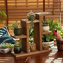 Indoor / Outdoor-Regal Pastoral Retro Blumenrahmen Holz Blumenrahmen Blumen Regal Mini Desktop Blume Stand Indoor Büro Blume Stand Schreibtisch Student Flower Stand Praktisch und haltbar ( farbe : #2 )