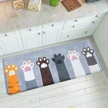 Indoor Teppichunterlage Schlafzimmer Mats Tür Badezimmer mit Küchen Matte Bad Mats Badezimmer saugfähige Matte Bodenmatten , Fußmatten ( größe : 45x120cm )