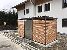 INDRA Design Mülltonnenhaus m. Holzverkleidung