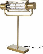 Industrial-Lampe aus goldfarbenem Metall in