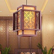 Industrial Vintage Pendelleuchte moderne und minimalistische Chinesischen kleiner Leuchter Deckenleuchten Pendelleuchte E27 Sockel s einzelnen Leiter der Nostalgie für die kreativen Studie, die Lampe, 25 * 25 * 28 cm