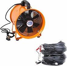 Industrie Extraktor Tragbarer Ventilator Luft Axial Metall Gebläse Kommerzieller Auspuff Werkstatt Ventilation Lüfter Mit 5 meter Rohr - 12 Inches With Duc