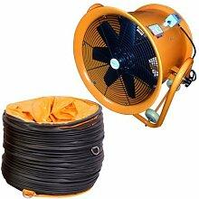 Industrie- Extraktor Tragbarer Ventilator Luft Axial Metall Gebläse Kommerzieller Auspuff Workshop Lüftung Lüfter Mit 5 meter Duct - 51cm mit Röhre