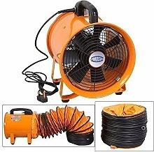 Industrie Extraktor Tragbarer Ventilator Luft Axial Metall Gebläse Kommerzieller Auspuff Werkstatt Ventilation Lüfter Mit 5 meter Rohr - 46cm mit Röhre