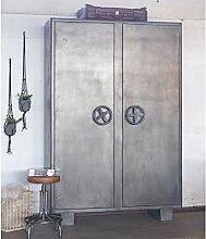 Industrie Metall Lagerschrank Schrank Aktenschrank Metallschrank 2 Türen