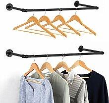 Industrie-Rohr Kleiderständer 2er Set Wandmontage