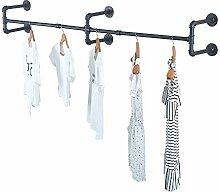 Industrie-Rohr-Kleiderständer, Wandmontage,