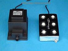 Industrie Ultraschall Mist Maker Nebelmaschine 6Head Luftbefeuchter Transformer 1800ml/h