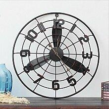 Industrie Wanduhr, Home decoration loft industriellen wind power fan modell wanddekoration wanduhr bar café shop wand wanduhr Wanduhr ( Farbe : A )