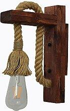Industriell Holz Eisen Hanf Seil Vintage