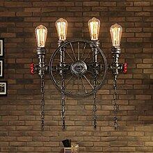 Industriell Retro Design gilt Wandlampe Vintage