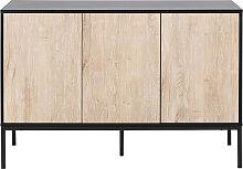 Industrielle Anrichte Metall und gebleichtes Holz
